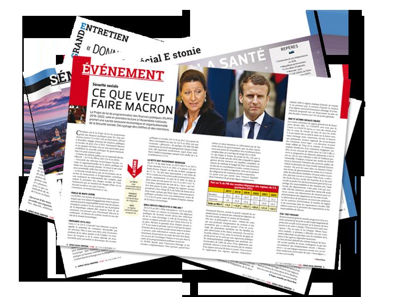 La revue Espace Social Européen, double page évenement